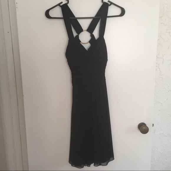B Darlin Dresses Little Black Dress With Open Back And Bling